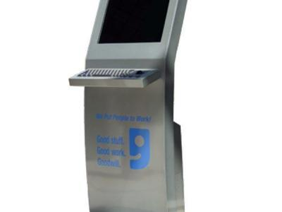 Floor Series Sliver Kiosk